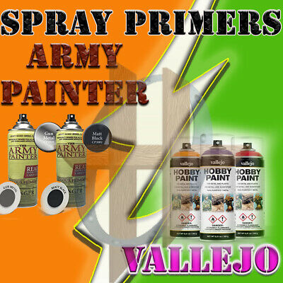 Miniatures Spray On Primers - The Army Painter, P3, over 18 Different Colors