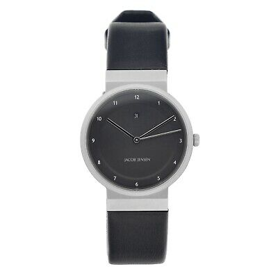 9700f9dfc Jacob Jensen Dimension 870 Matte Black Dial Leather Swiss Quartz Women s  Watch