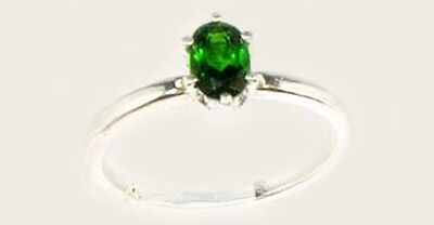 "RARE 2/3ct Russian Chrome Diopside ""Yakutsk Emerald"" Mt Vesuvius Finland Macedon"