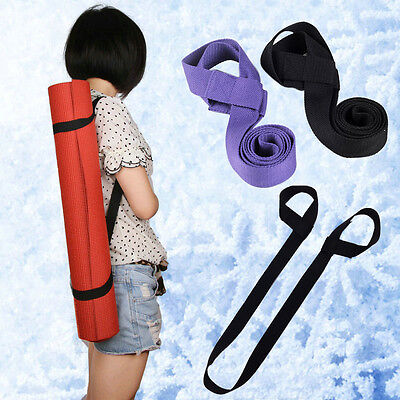 Durable Cotton Yoga Mat Carry Sling Shoulder Strap Belt Assistant Tools 3 Colors