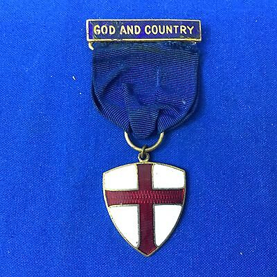 Boy Scout God And Country Protestant Religious Award Medal