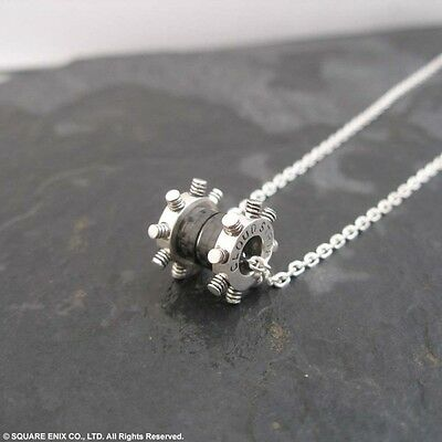Japan  Final Fantasy VII 7 Silver Pendant CLOUD STRIFE necklace Square Enix