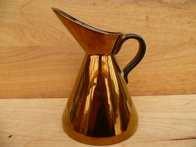 Vintage Old Retro Large Size Gold Colour, Water Jug, (C109)