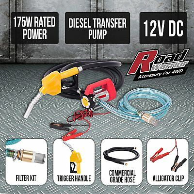 NEW 12V Electric Transfer Pump Oil Bio-Diesel Commercial Fuel Diesel Station