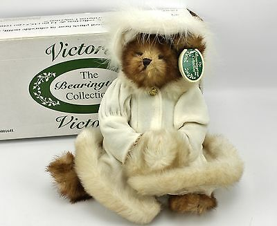 """Victoria Holiday Bearington Collection 14"""" Jointed Plush Teddy Bear 2005"""