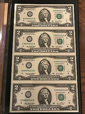 2003-A World Reserve Monetary Exchange Uncut Sheet $2 Bills and Complete Album
