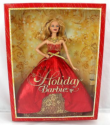 Barbie 2014 HOLIDAY BARBIE Barbie Collector Red & Gold #BDH13 2013