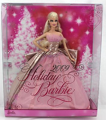 Barbie 2009 HOLIDAY BARBIE 50th Anniversary Pink Gown #N6556 2008
