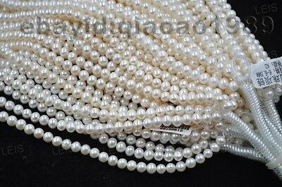 AA Wholesale 5 strands 6mm near round real freshwater pearl