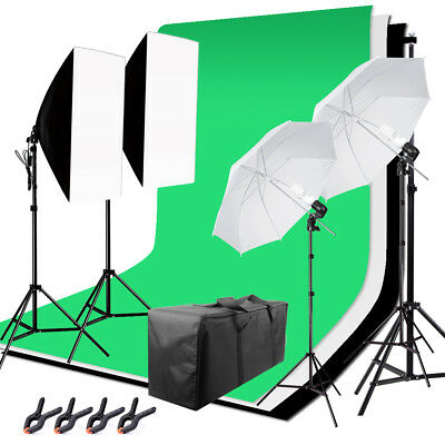 JIAYU Studio Lighting Light Video Photo Softbox Photography Backdrops Stand Kit