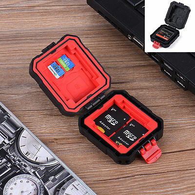Portable Dustproof  SD CF XD TF Memory Card Storage Case Protecter Box Holder AU