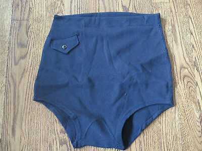 "ww2 usn,vintage bathing suit,""charles atlas""type,100% wool, new old stock,sz Lg"