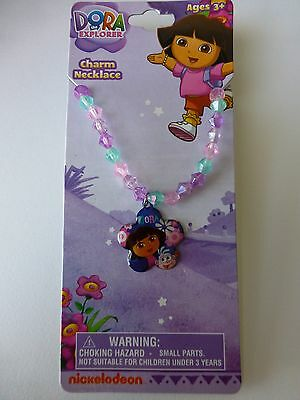Girls Dora beaded necklace, choice of 2 colours, free postage.