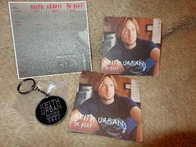 Keith Urban *2007 Backstage Experience Keychain+2 Be Here Coasters+2005 Calendar