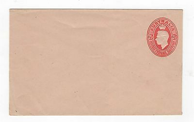 1942c ENVELOPE  KGVI EMBOSSED OVAL - 2 1/2d RED ON BUFF STOCK ~  #200084