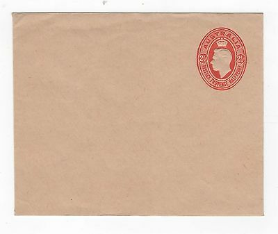 1942 ENVELOPE  KGVI EMBOSSED OVAL - 2 1/2d RED ON BROWN-BUFF STOCK ~  #200088