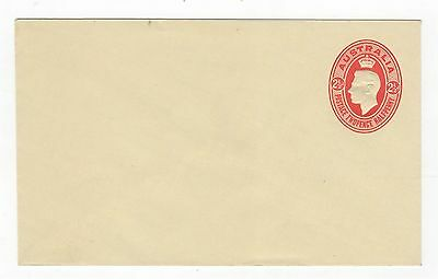 1942 ENVELOPE  KGVI EMBOSSED OVAL - 2 1/2d RED ON PALE YELLOW STOCK ~  #200087