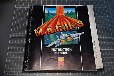 Arcade OEM Manual for M.A.C.H. 3 videogame