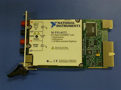 National Instruments NI PXI-4072 Digital Multimeter Card, FlexDMM / LCR Meter