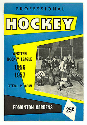 HTF 1956-57 Edmonton Flyers WHL Hockey Program vs. Calgary Stampeders