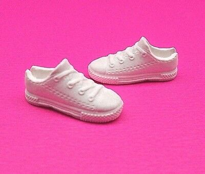2016 Barbie Shoes Fashionista Game Developer Doll Flat White Sneakers