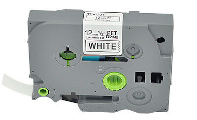 Black on White P-touch Label Tape Compatible for Brother TZ TZO-231 12mm 26.2 ft