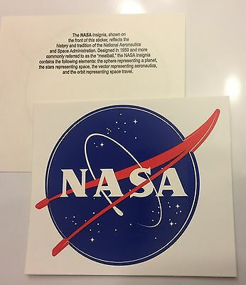 "NASA Decal - Authentic Vinyl Decal Large ""Meatball"" Official Sticker 3.5 in. NEW"
