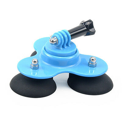 Triple Low Angle Suction Cup Removable Mount Holder for Gopro 2 3 3+ 4 Camera