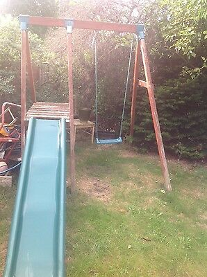 childs swing and slide