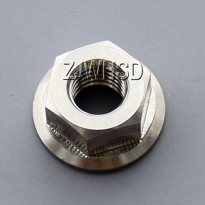 M8 Titanium Ti Hex Flange Nut / Aerospace Grade for Bicycle Motorcycle Car Boat