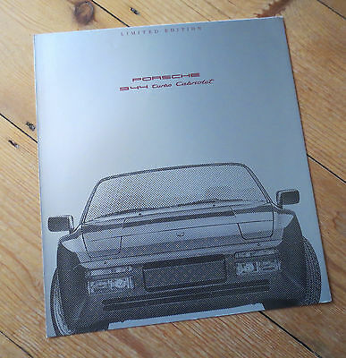 Porsche 944 Turbo Cabriolet Limited Edition Brochure - 1990 - German