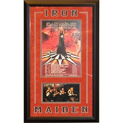 Iron Maiden Autographed Mini Poster Framed