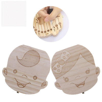 1 PC Creative Personalized Wooden Fairy Tooth Box Organizer For Baby Boy Girl