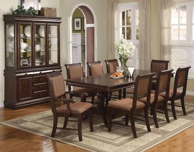 Merlot 11 Piece Formal Dining Room Furniture Set Table 8 Chairs Buffet Hutch