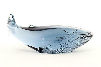 A blue whale by Paul Hoff for Kosta. Swedish glass WWF Ltd Edition