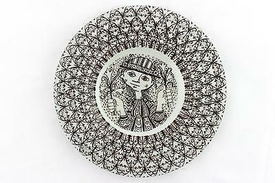 A Bjorn Wiinblad wall plate/ dish for Nymolle. 1960's -70's Danish design