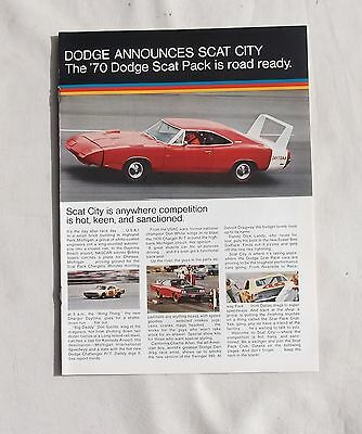 Dodge Scat Pack removed from a Magazine Dart Coronet Charger Challenger Daytona