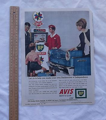 Avis BP Petrol XP Ford Original Advertisement Removed From a 1966 SA Magazine