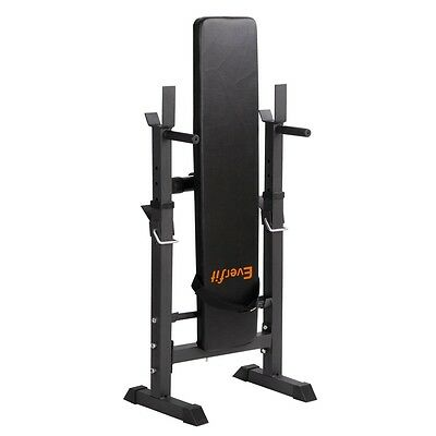 Foldable Gym Bench Press Adjustable Fitness Exercise Weight Stand 330lbs