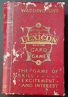 Antique Vintage Waddingtons Lexicon Card Game Complete With Box Instructions
