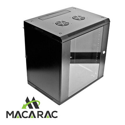 "12RU 600mm DEEP WALL-MOUNT DATA CABINET (19"" Rack 12U / Provision for 2 Fans)"
