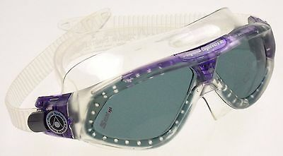 Aqua Sphere Seal Goggles Ladies Purple Smoke Curved Lens UVA UVB Italy 169980