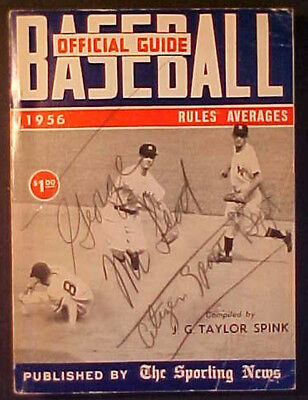 1956 Sporting News Official Baseball Guide! Billy Martin/jerry Coleman Cover