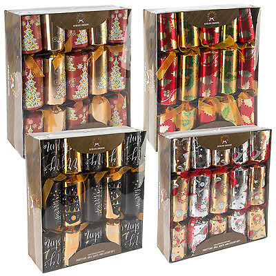 "10 x Large Luxury Christmas Crackers Family Xmas Party Cracker Pack 14"" Long"