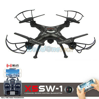 Wifi FPV 2.4Ghz 4CH RC UAV Quadcopter Drone with HD Camera RTF X5SW-1 Drone Fly
