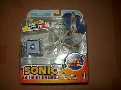 Silver iron box sonic the hedgehog figure Jazwares toy