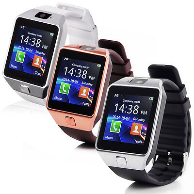 Smart Watch Armbanduhr für iPhone Samsung SIM Kamera Bluetooth iOS Android Sport