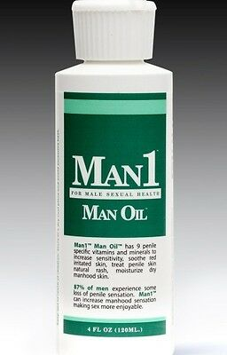 Man1 Man Oil - Natural Penile Health Cream - 3 Month Supply- Dry Red Itchy Penis