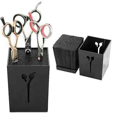 Black Hairdressing Barber Scissor Holder, Pro Holder For Hair Scissors Salon Use