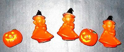 Vintage Gurley Halloween Witch Candle Lot 5 Candles